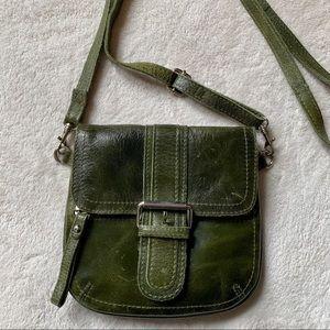TANO Distressed Leather Mini Crossbody